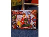 New, never been used kids Marvel Superhero face painting and accessories kit