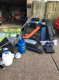 Job lot of camping equipment