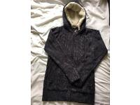 New cotton traders hooded zip jumper