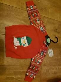 Brand new Christmas jumper snowman age 3-6 months