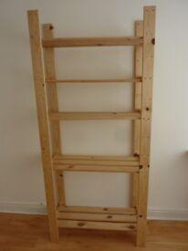 Shelving Unit. 2 IKEA HEJNE sets of shelves made from Pine wood.