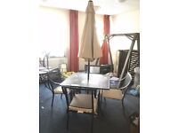 Garden Table and 4 Chairs in excellent condition (parasol not included)