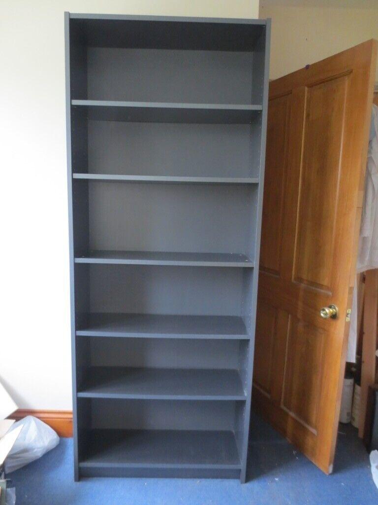 Ikea Large Billy Bookcase Shelves Shelf Black Dark Grey 80cm W X 202cm High X 28cm Deep In Sherwood Nottinghamshire Gumtree