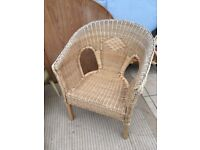 Wicker conservatory chair