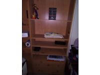 Shelving Unit with two drawers