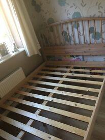 Vgc next wooden bed frame