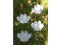 Large Handmade Concrete Paw prints stepping stone Garden feature