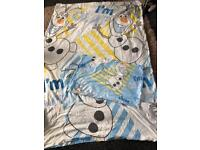 Olaf single bed cover pillow set