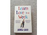 Learn Love In A Week. Andrew Clover. Hardback easy read book.