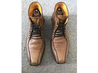 Oliver Sweeney LASH Men's Tan Leather Boots (SIZE: 9.5)