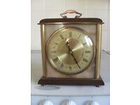 Working Vintage METAMEC Quartz Brass & Faux Marble German Mantle Carriage Clock. Great condition