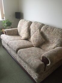G Plan sofa and 2 chairs