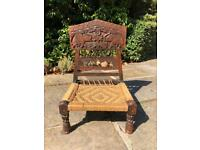 Vintage Indian low Chair