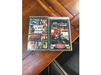 Grand theft auto and midnight club 3 PSP game