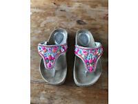 Monsoon (Angels) beaded flip flops - size UK 11. Never worn outside.