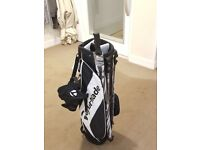 Taylormade Stand Bag with an umbrella