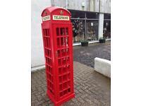 large red phone box WINE RACK