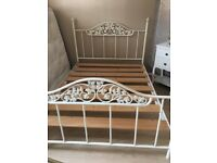 Double metal Bedframe. Free local delivery.