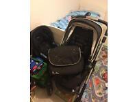 SilverCross Wayfarer pram, carrycot , car seat & bag