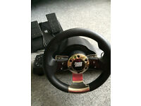 Power Racer racing wheel and pedals for Xbox 360