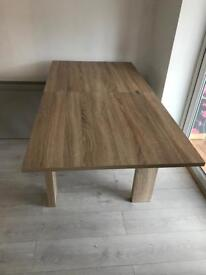 Next Malvern 4-6 Seater Square To Rectangle Oak Dining Table