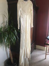 Wedding Dress for sale 1930's original beautiful pure satin