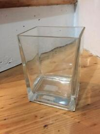 Cube rectangle glass vase