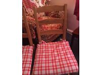 3 dinning chairs with table free