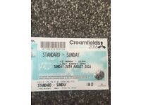 Creamfields Sunday day ticket for sale face value