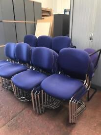 Purple Stackable Canter Leaver Chairs