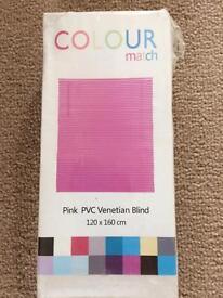 Pink PVC Venetian Blind