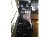 Playseat Logitech steering wheel and pedals and gear stick