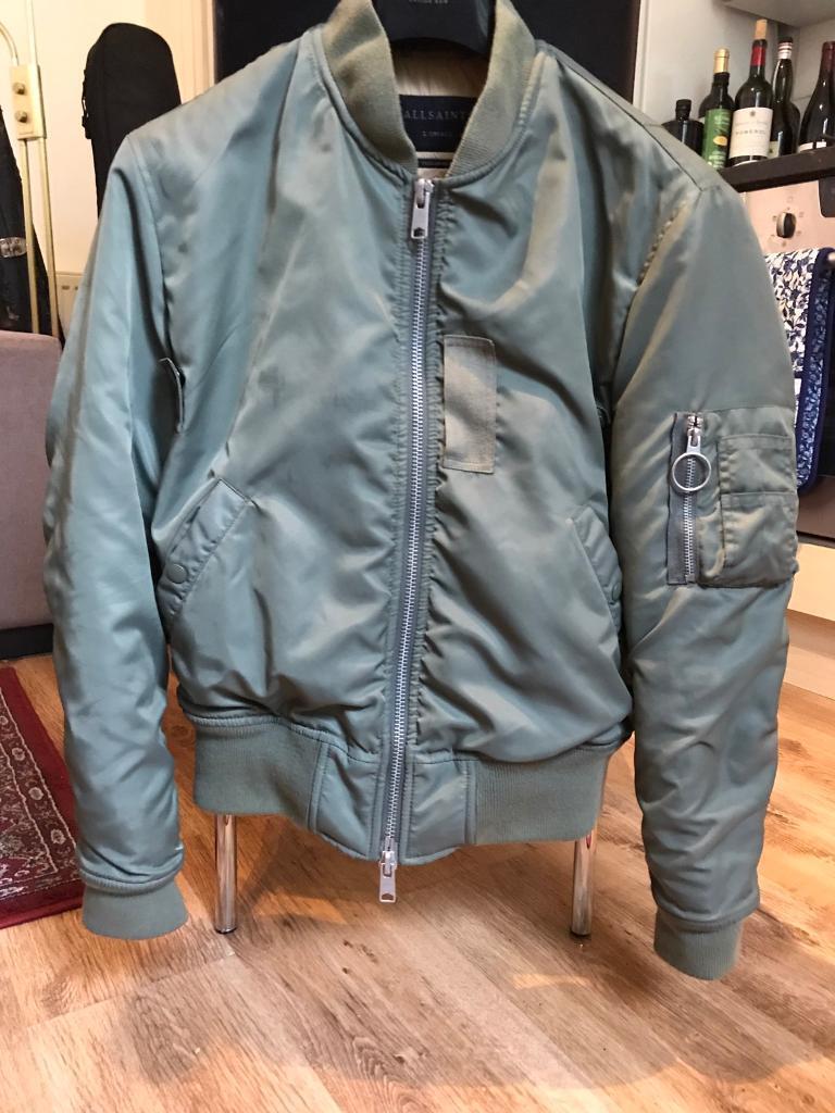 ba8c42e9e ALL SAINTS Green Bomber Jacket size extra small | in Camden, London |  Gumtree