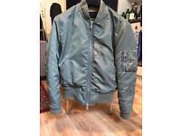 ALL SAINTS Men's Green Bomber Jacket size extra small