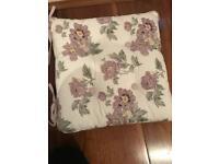 Seat pad / cushion / LAURA ASHLEY x6 - DOUBLE SIDED