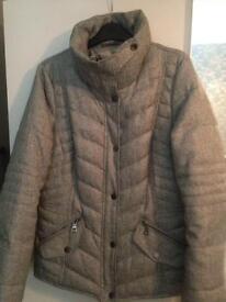 Woman's grey coat