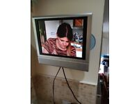 Technika 15 inch LCD TV with built in DVD player and wall and table bracket