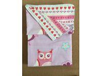 Children's cot bed owl or unicorn duvet case and pillow sets £5.00 each