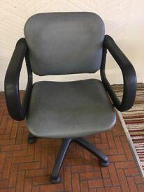 Grey gas lift chair