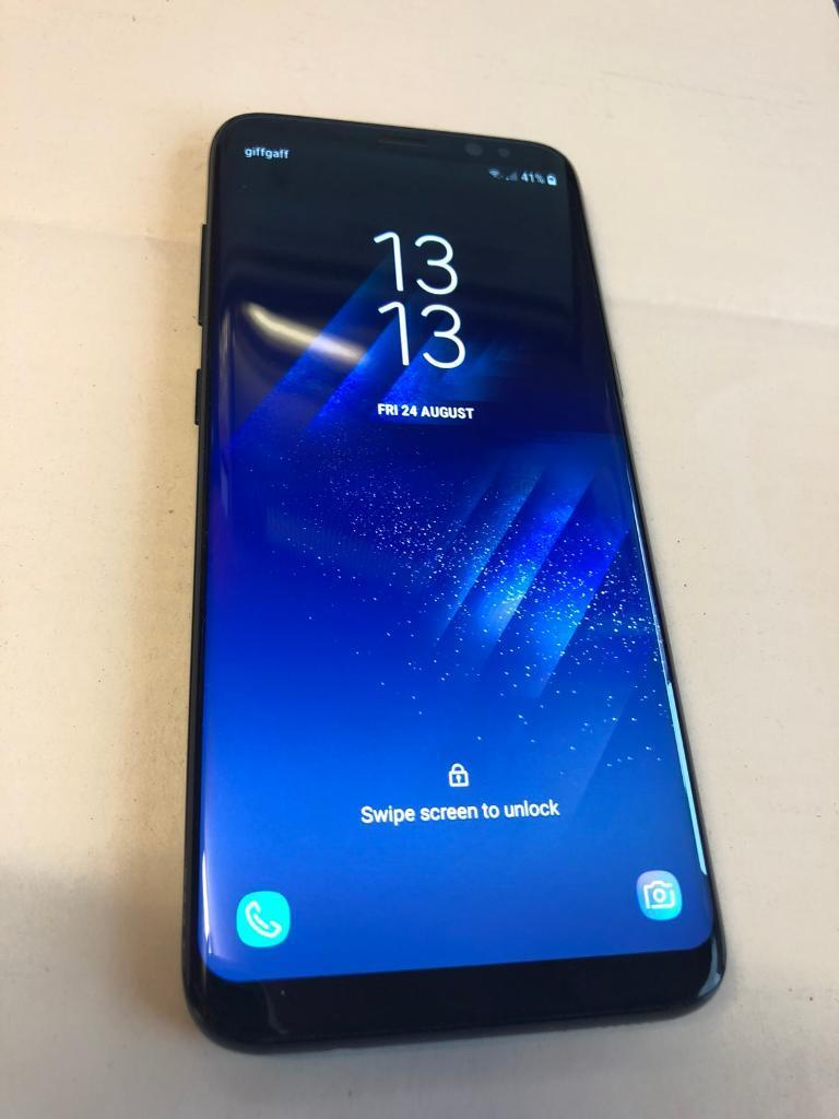 Samsung Galaxy S8 Midnight Black With Tech 21 Case 30 Mint Condition Like
