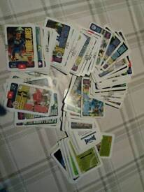 Old football cards from 1990s