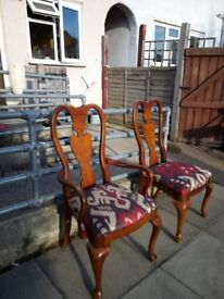I have got eight dining chairs good condition two of theme with arme and six others with out