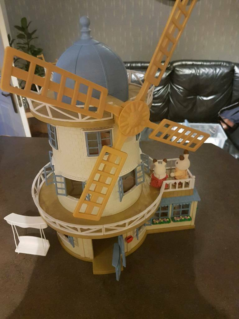 Sylvanian windmill plus furniture