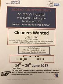 Experienced cleaners wanted