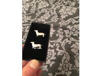 Silver dachshund Cufflinks