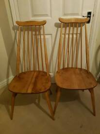 Mid century ercol chairs