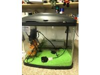 Fish tank and accessories. Has electric light, gravel and water purifier. Very good condition