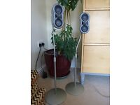 2 sony ws-fv10a speaker stands with 2 sony ED speakers