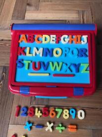 Kids magnetic letters, numbers and carry case