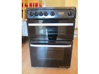 Hotpoint DSG60X Freestanding Double Gas Oven and Hob - 12 months old